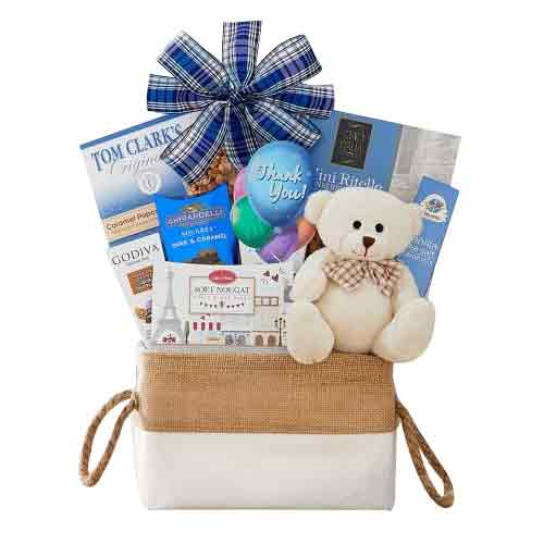 Lovely Celebration Pack of Teddy Bear and Assorted Snacks