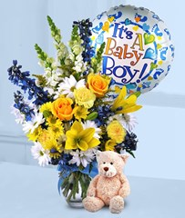Boy Baby Flower Arrangement